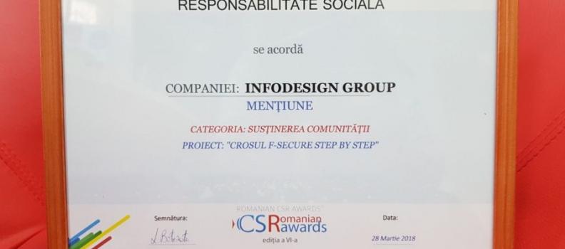 Crosul F-Secure Step by Step, premiat la Gala Romanian CSR Awards